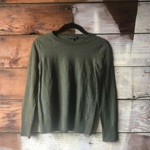 Banana Republic Army Green Merino Wool Sweater Med